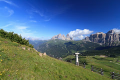 Dolomites landscape - Fassa valley Royalty Free Stock Photo