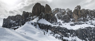 Dolomites, landscape from Gardena Pass Stock Photography