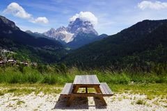 Dolomites landscape. Italy Stock Photos