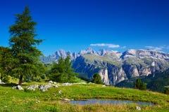 Dolomites landskap Royaltyfri Fotografi