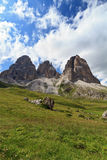 Dolomites - Langkofel mountain Royalty Free Stock Photos