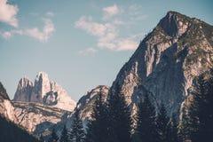 Dolomites Laverado Peaks Stock Images