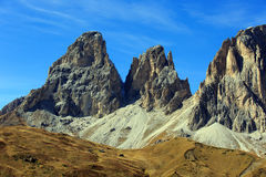 The Dolomites. Look at the mountaintops of the Dolomites Stock Photography