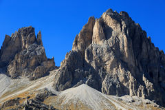 The Dolomites. Look at the mountaintops of the Dolomites Royalty Free Stock Images