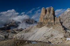 Dolomites Massive Mountain-Dolomites,Tirol,Italy Stock Photos