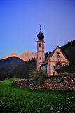 Dolomites mountain church Stock Images