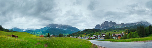 Dolomites mountain country summer view Stock Image
