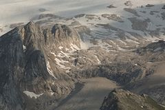 Dolomites mountain landscape. High mountain cliffs in the Dolomites Stock Image