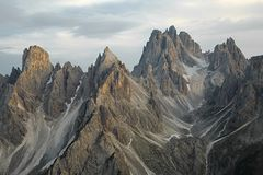Dolomites mountain landscape. High mountain cliffs in the Dolomites Royalty Free Stock Images