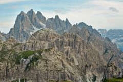 Dolomites mountain landscape Royalty Free Stock Images