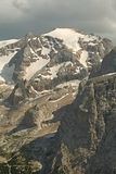 Dolomites Mountain Landscape. High mountain cliffs in the Dolomites Stock Photos
