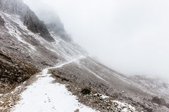 Dolomites mountain panorama ,Tre Cime Di Lavaredo Royalty Free Stock Photos