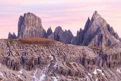 Dolomites mountain peaks Stock Images