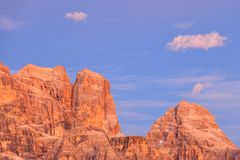 Dolomites mountain peaks Stock Photos