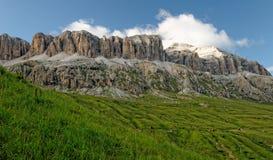 Dolomites mountain range. The Dolomites mountain range in the southern Alps Royalty Free Stock Photography