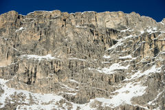 Dolomites mountain snow landscape in winter Royalty Free Stock Photography