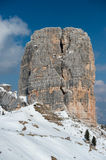 Dolomites mountain snow landscape in winter Royalty Free Stock Images
