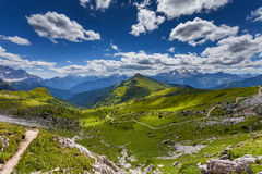 Dolomites mountain in summer Royalty Free Stock Photo