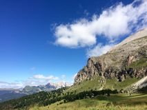 Dolomites mountain view royalty free stock images