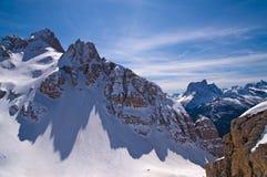 Dolomites Mountain in Winter, Italy Royalty Free Stock Photos