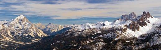 Dolomites Mountain in Winter, Italy Stock Photo