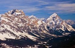 Dolomites Mountain in Winter, Italy Royalty Free Stock Image
