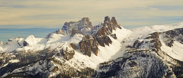 Dolomites Mountain in Winter, Italy Stock Image