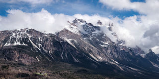 Dolomites mountains above Cortina D'Ampezzo Stock Photography