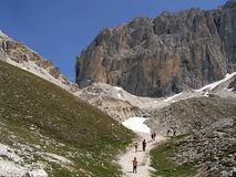 Dolomites mountains, Alps in Italy. The Dolomites  are a mountain range located in north-eastern Italy Stock Photos