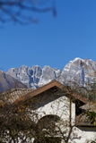 Dolomites mountains in Belluno Royalty Free Stock Photos