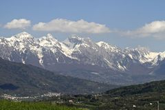 Dolomites mountains in Belluno Stock Images