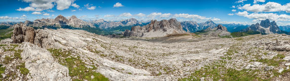 Dolomites Mountains, Formin Mountain, Italy - Panorama Stock Photos
