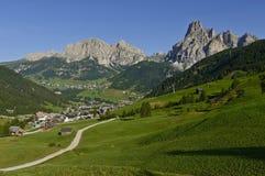 Dolomites mountains landscape. View of the mount alta badia - Italy stock photos