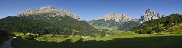 Dolomites mountains landscape. View of the mount of alta badia, Dolomites - Italy stock image