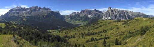 Dolomites mountains landscape. View of the mount of Alta Badia - Italy royalty free stock photo