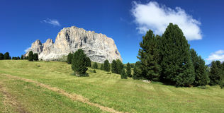 Dolomites, mountains landscapes in summer Royalty Free Stock Image