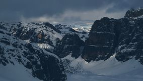 Dolomites mountains seen from Lagazuoi royalty free stock photography