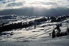 Dolomites mountains in winter royalty free stock photos