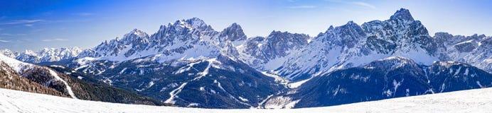 Dolomites mountains in winter Stock Photos