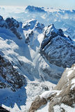 Dolomites mountains at winter, ski resort Royalty Free Stock Image