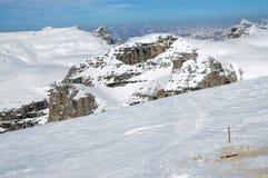 Dolomites mountains at winter, ski resort Stock Images