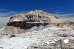 Dolomites moutnain peaks View to Piz Boe, Sella Stock Images
