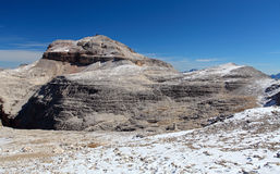 Dolomites moutnain peaks View to Piz Boe, Sella, Italy.  Royalty Free Stock Photography