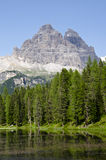Dolomites. Natural park of the three peaks of Lavaredo (Italy Stock Images