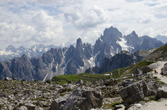 Dolomites. Natural park of the three peaks of Lavaredo (Italy Stock Image