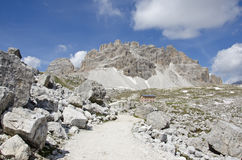 Dolomites. Natural park of the three peaks of Lavaredo (Italy Stock Photography