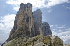 Dolomites. Natural park of the three peaks of Lavaredo (Italy Royalty Free Stock Images