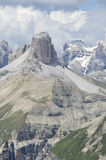 Dolomites. Natural park of the three peaks of Lavaredo (Italy Royalty Free Stock Photography