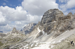 Dolomites. Natural park of the three peaks of Lavaredo (Italy Royalty Free Stock Image