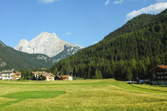 Dolomites near Canazei Stock Photo